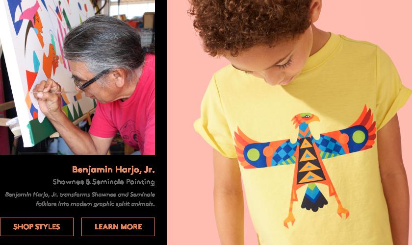 Benjamin Harjo, Jr. transforms Shawnee and Seminole folklore into modern graphic spirit animals.