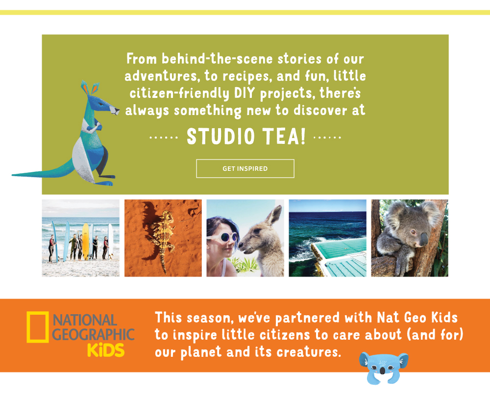 description to visit Tea's blog, Instagram, and partnered Nat Geo Kids activity page