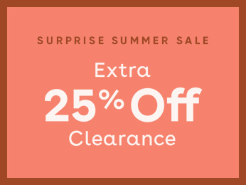 take an extra 25% off all clearance