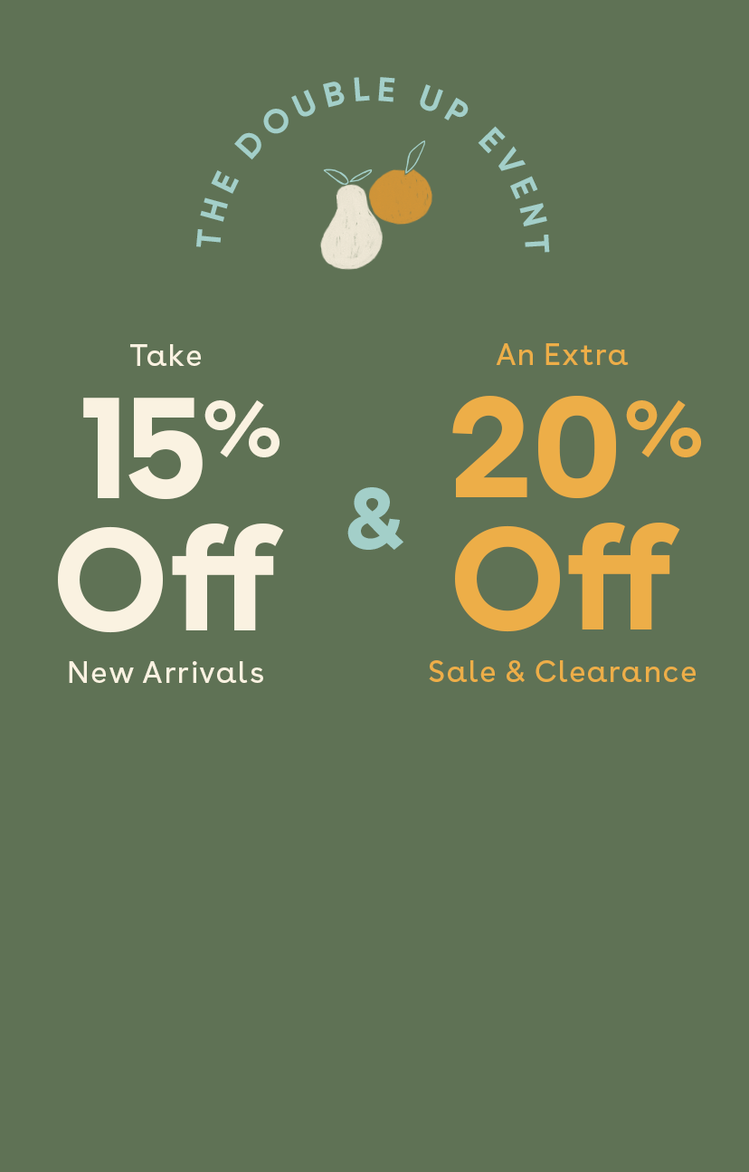 Shop 15% Off New Arrivals + Extra 20% Off Sale & Clearance