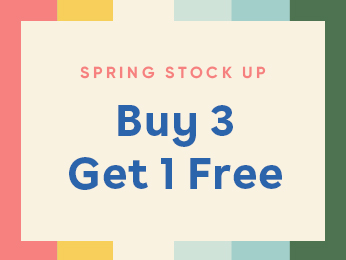 spring stock up   buy 3 get 1 free