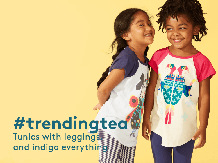 #trendingtea Tunics with leggings, and indigo everything.