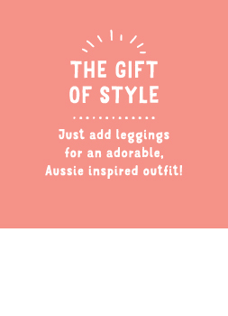 Just add leggings for an adorable, Aussie inspired outfit!