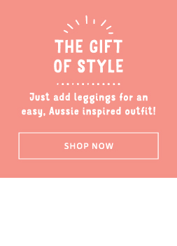 Just add leggings for an easy, Aussie inspired outfit!