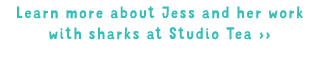 Learn more about Jess and her work with sharks at Studio Tea
